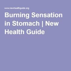 Burning Sensation in Stomach | New Health Guide