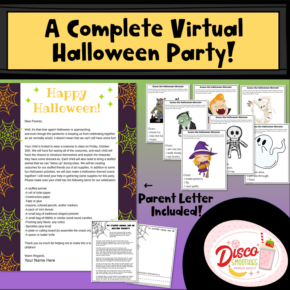 Classroom Halloween Activities 2020 A Complete Virtual Halloween Party For Elementary School in 2020