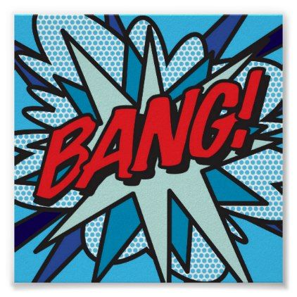 Comic Book Pop Art BANG Poster | Zazzle.com