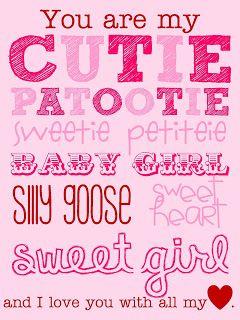 Cutie Patootie Free Valentine Printable Holidaying I Love My