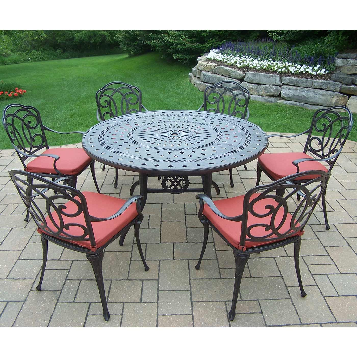 Things You Never Knew About Round Patio Dining Sets For 6 Darbylanefurniture Com In 2020 Oakland Living Outdoor Dining Set Patio Dining Set