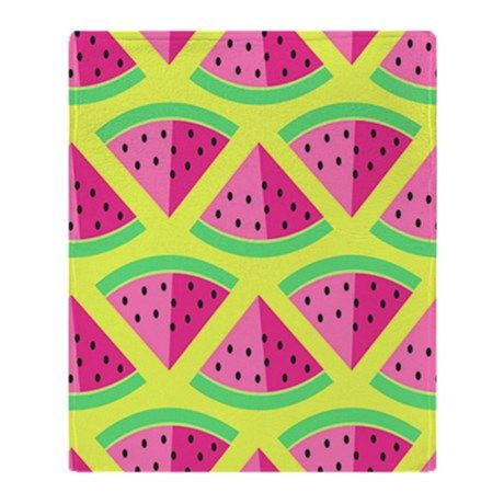 WATERMELON IN PINK Throw Blanket by ThingsCollectiblePlus - CafePress