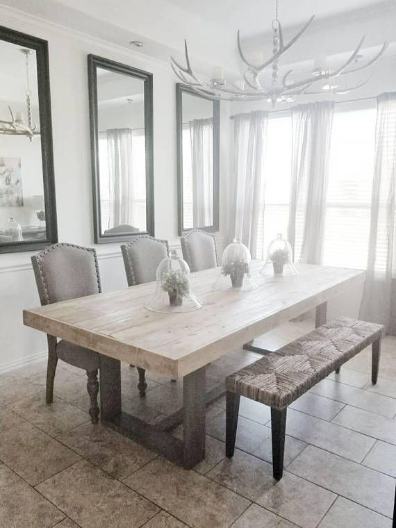 Made To Order Modern Rustic Farmhouse Dining Table In Natural