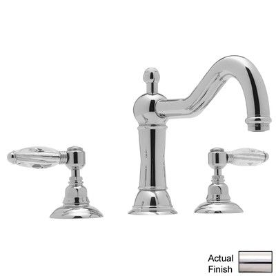Rohl Country Double Handle Deck Mount Bath Roman Tub Faucet with Lever Handle Finish: Polished Nickel