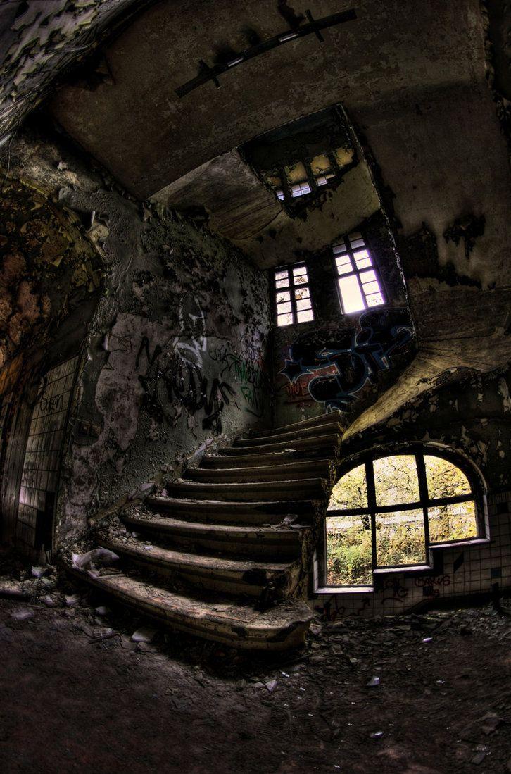 Kinderkrankenhaus Weißensee, an abandoned children's hospital in Berlin, Germany.