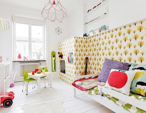 Behang Ferm Living : Ferm living dotty behang kids room in
