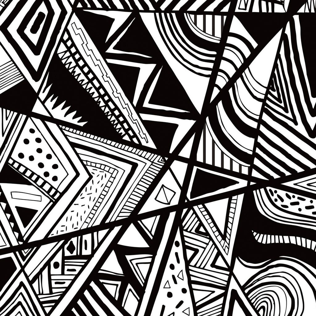 Black And White Doodle #iPad #Wallpaper