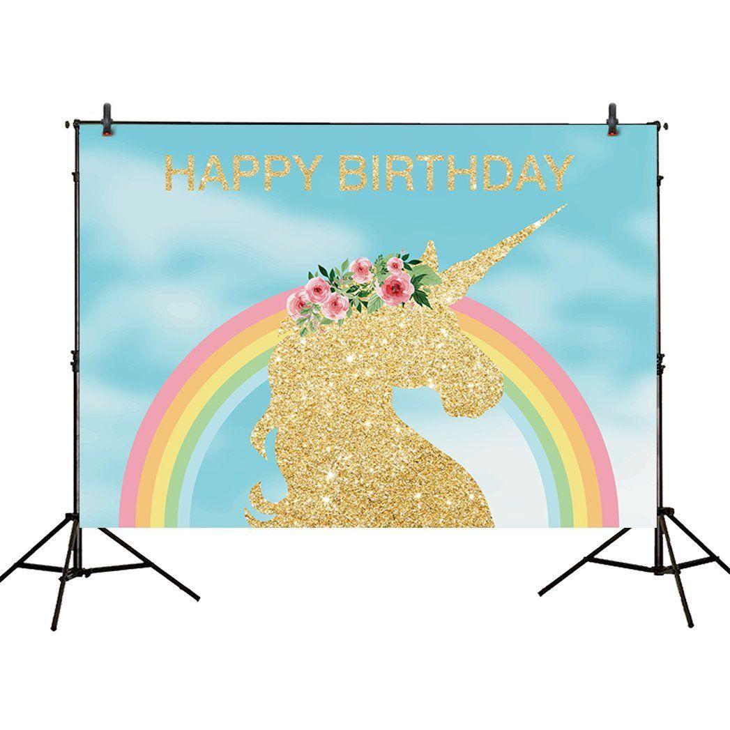 1st Birthday Rainbow Unicorn Theme Party Themes