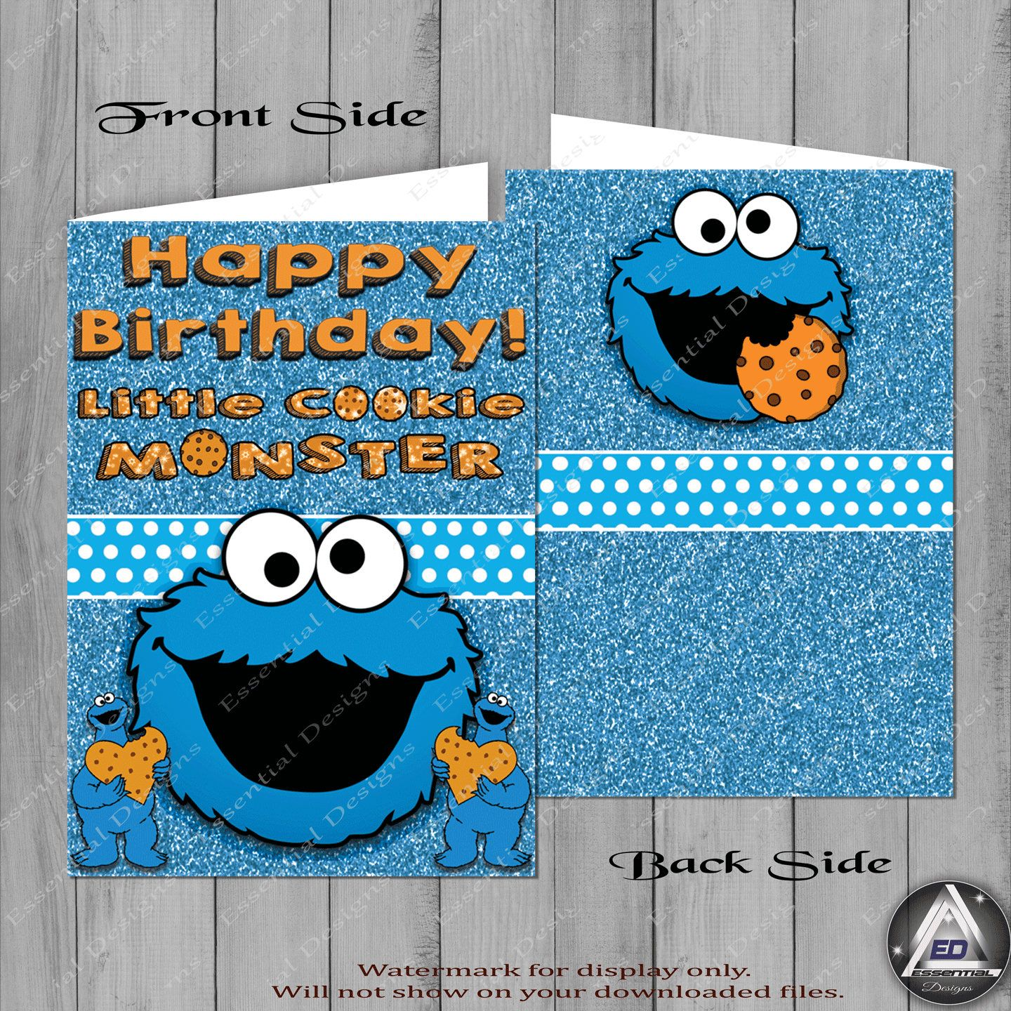 Excited To Share The Latest Addition To My Etsy Shop Cookie Monster Happy Birthday Card Check Ou Cookie Monster Birthday Kids Birthday Cards Monster Cookies