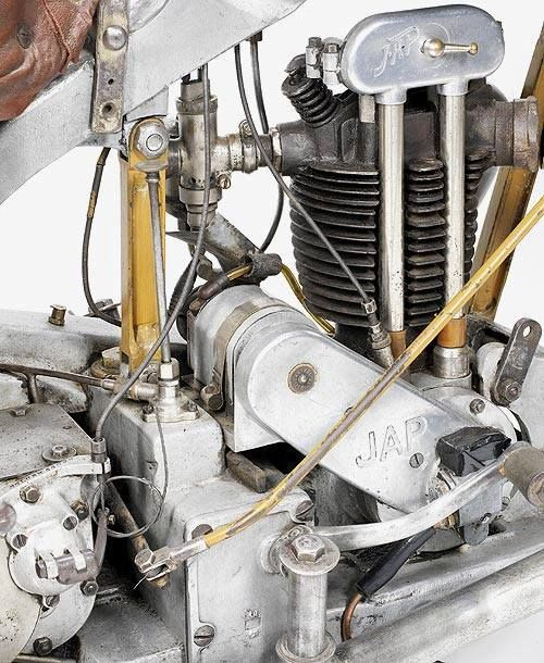 Types Of Motorcycle Engines: 1930 MGC 350cc Type N3 With JAP Engine.