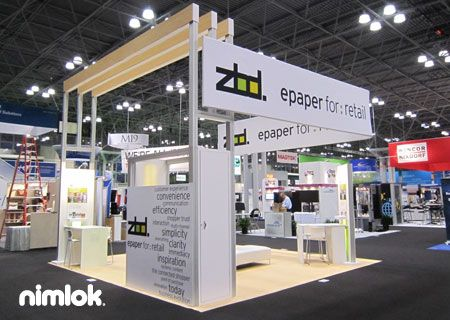 Modern Exhibition Stand Out : Love this modern open space the addition of wood details