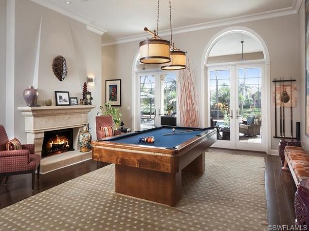 Billiards Room Used To Be The Formal Living Room In Pelican Marsh Naples Fl Formal Living Rooms Billiard Room Pool Table Lighting