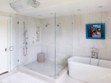 Ceramic Stool In Shower For 3rd Floor But A Bright Color White Bathroom All White Bathroom Nyc Interior Design