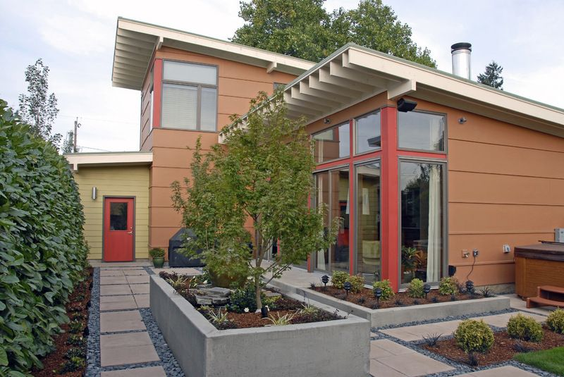 Cement Fiberboard Exterior. Contemporary Exterior By Alan Mascord Design  Associates Inc