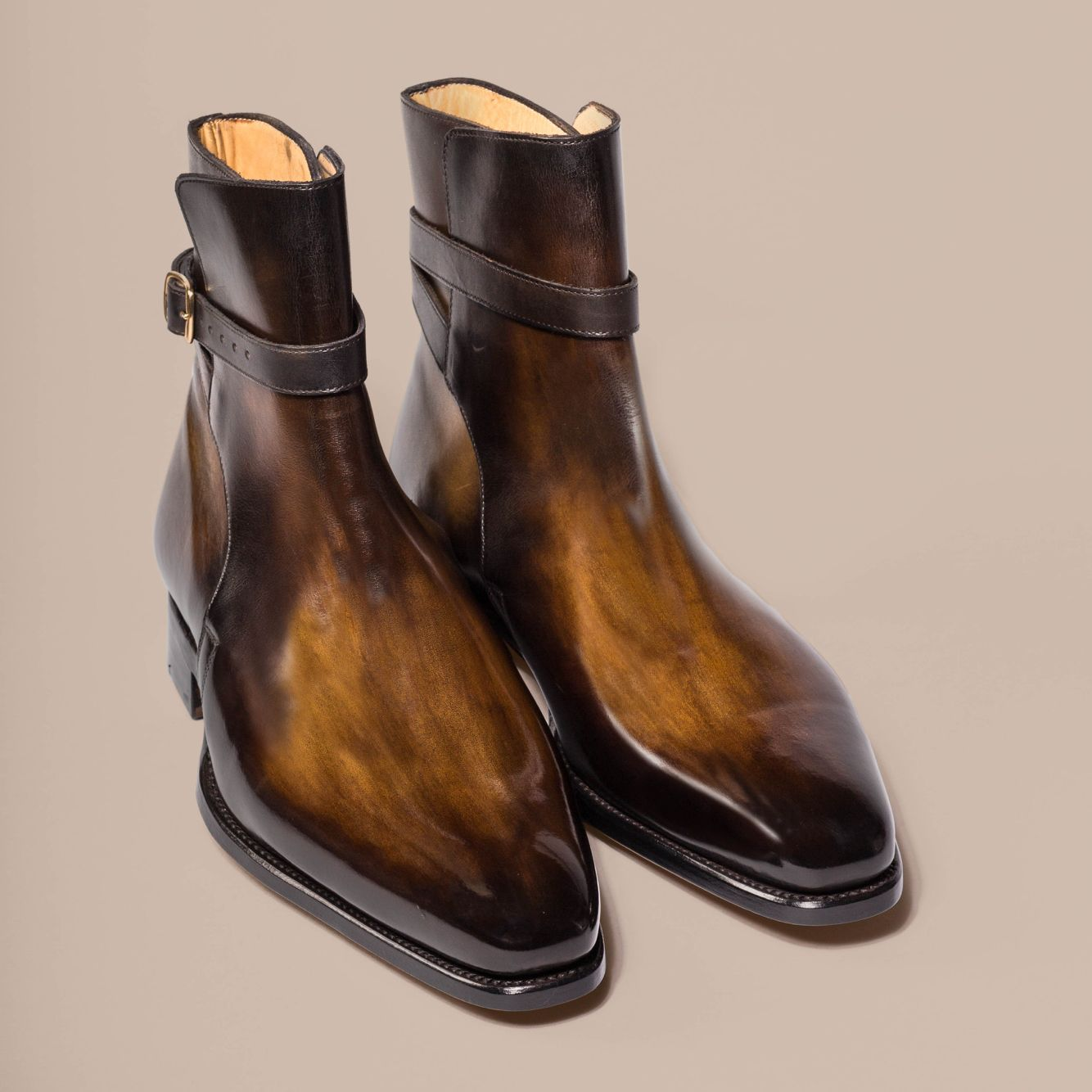 d1d61d01c9146 Our Jodhpur boots here in a woody brown patinated leather | My shoes ...