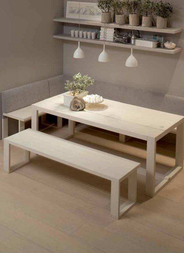 Cucina in legno blanco nata collezione arkadia muebles - Casa americana in legno ...