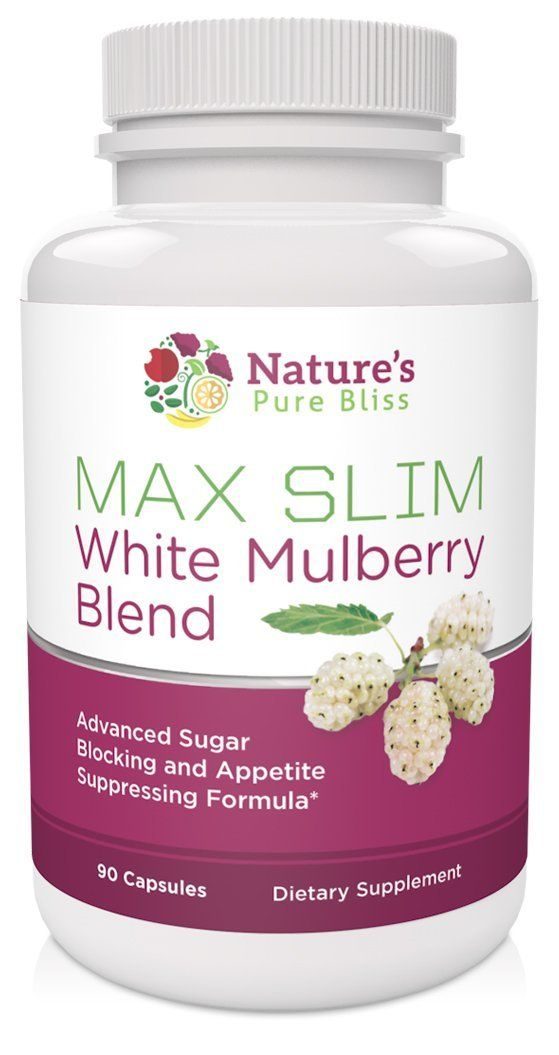 Max Slim Pure White Mulberry Extract 500mg Best Blend 90 Capsules