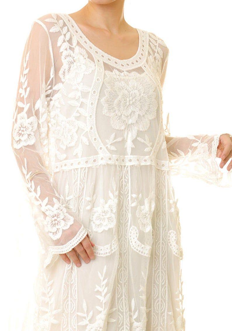 White Boho Lace Dress Bohemian Bridal Dress Simple Wedding Dress Long Sleeve Engagement Dress Bridal Beach Wedding Dress Short 8189 White Lace Dress Boho Lace Dress Boho White Lace Maxi Dress [ 1134 x 794 Pixel ]