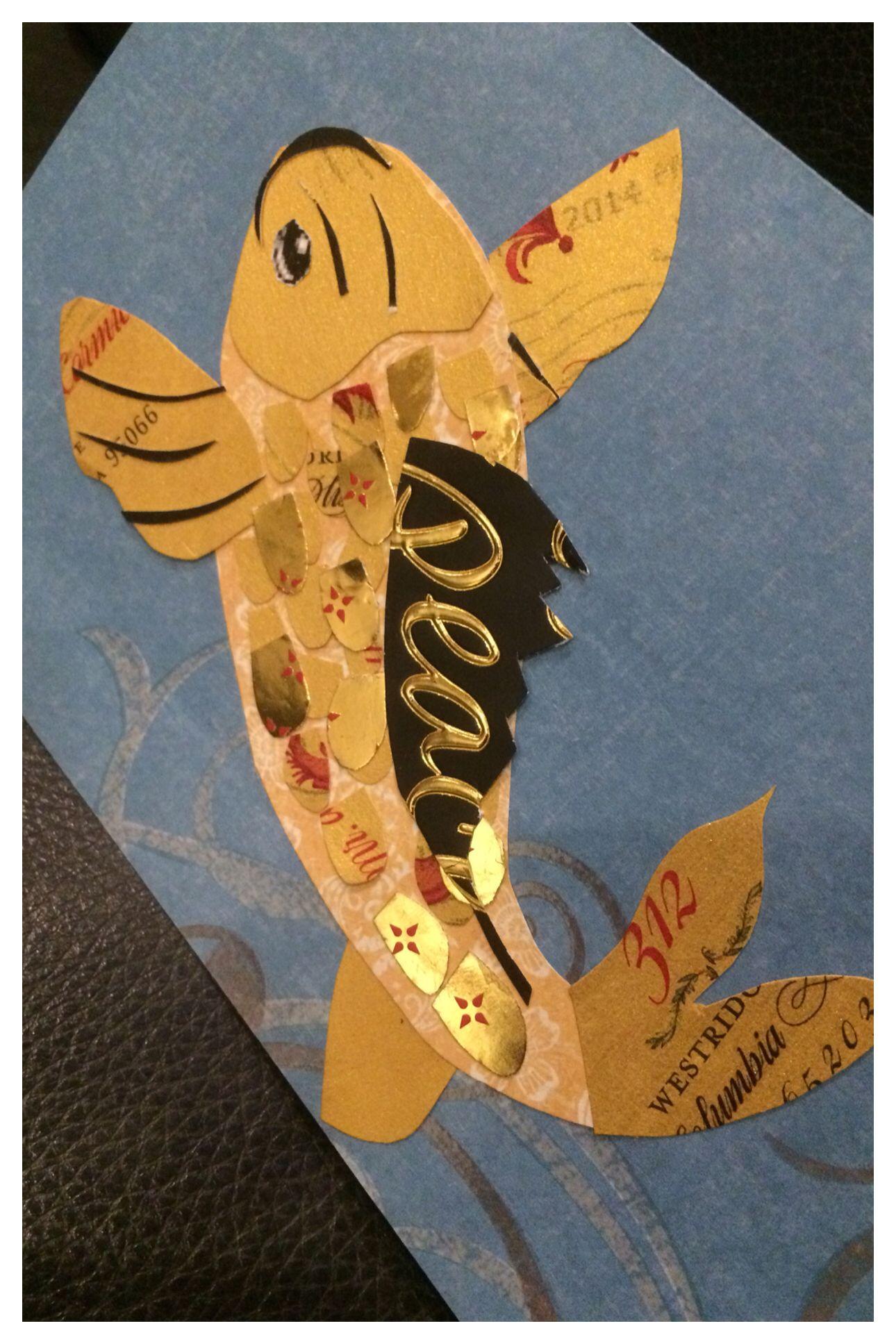 Koi Thank You Cards Handmade Love Cards Cards