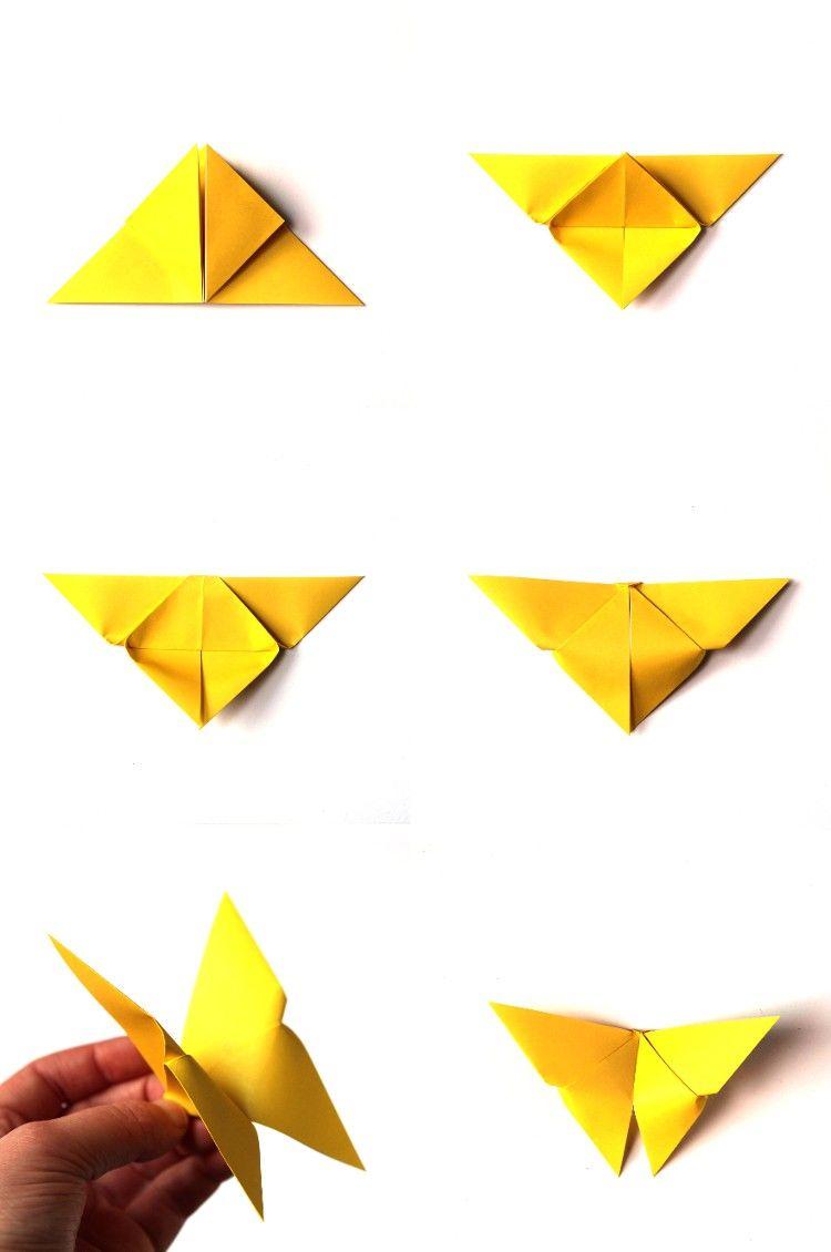 Einfache Schmetterlinge Aus Papier Falten Origami Für