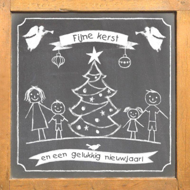 Afbeeldingsresultaat voor krijtbord kerstmis