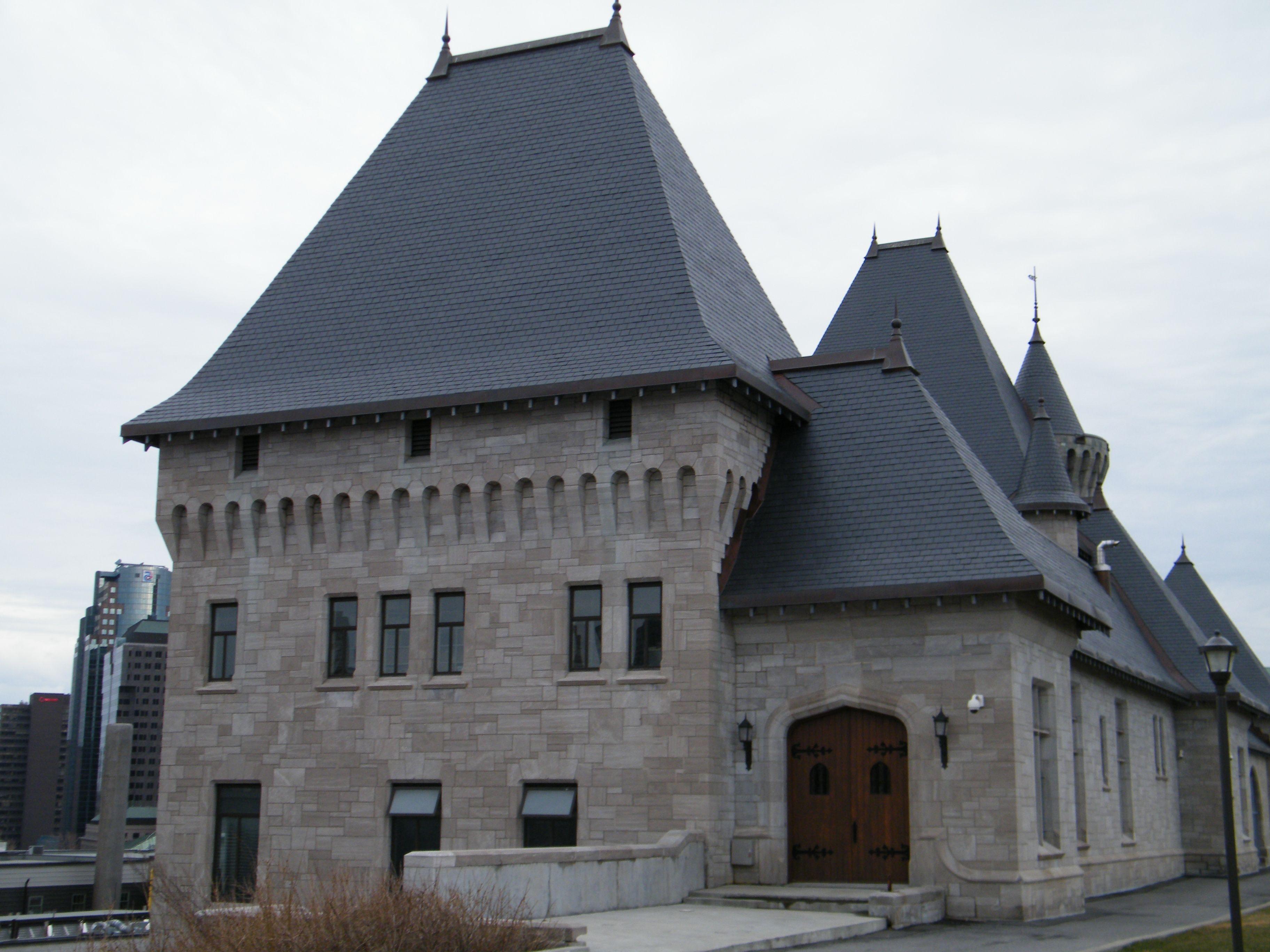 Unfading Black Slate : Mctavish pumping station montreal quebec canada north
