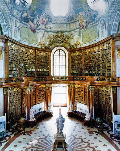 Österreichische Nationalbibliothek, Wien.  Libraries as they were meant to be! Gotta be Top 5 on my favorite places in the universe list.