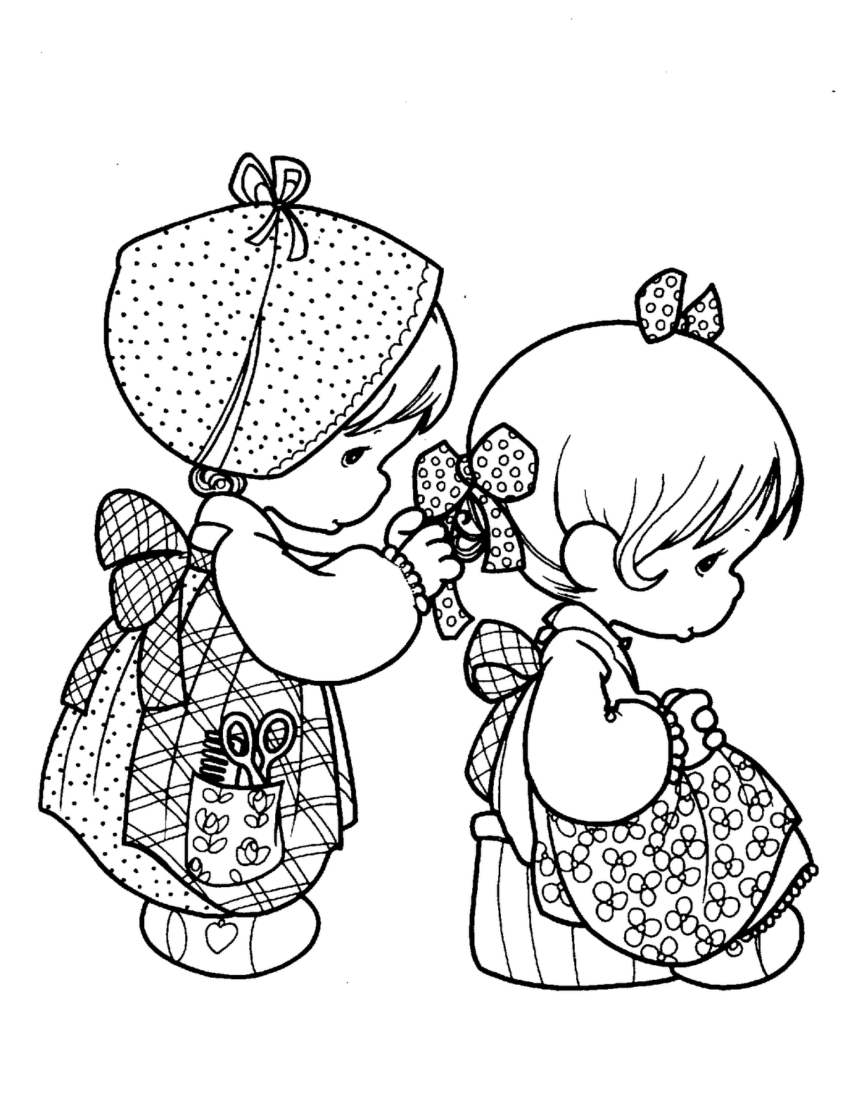 Precious Moments for Love Coloring Pages | Colouring | Pinterest ...