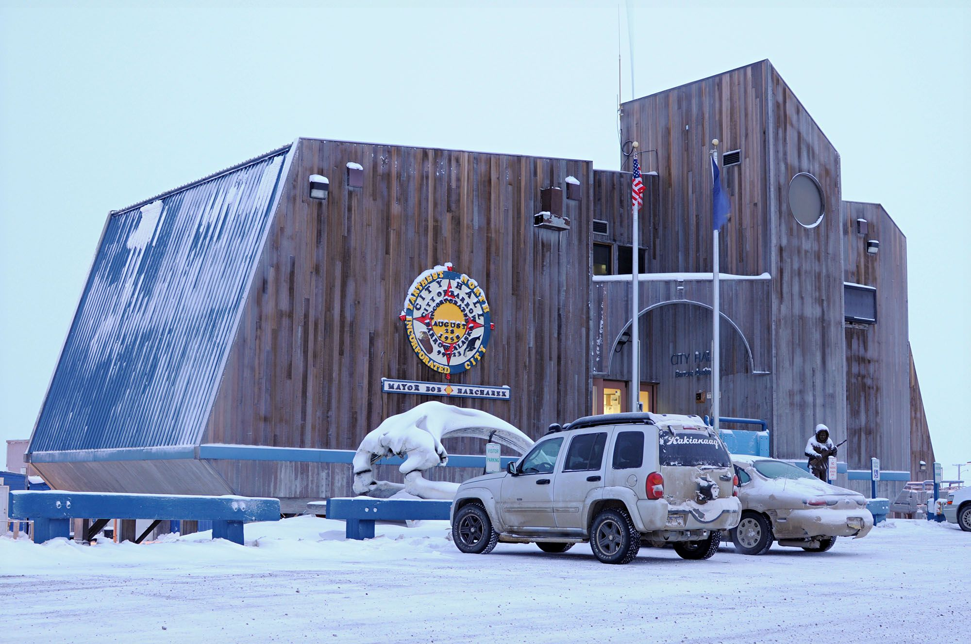 Barrow S City Hall Building Is The Largest In Alaska North Slope Borough