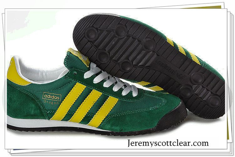 adidas dragon trainers green and yellow