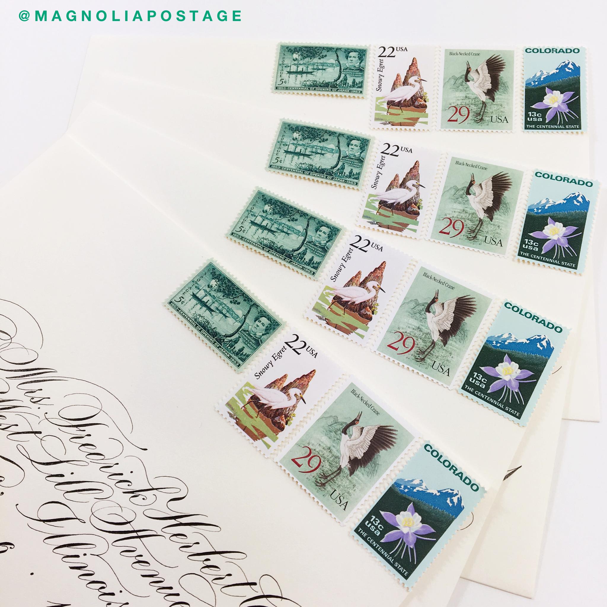 Vintage Postage Stamps - Vintage Wedding Stamps - Vintage Wedding ...