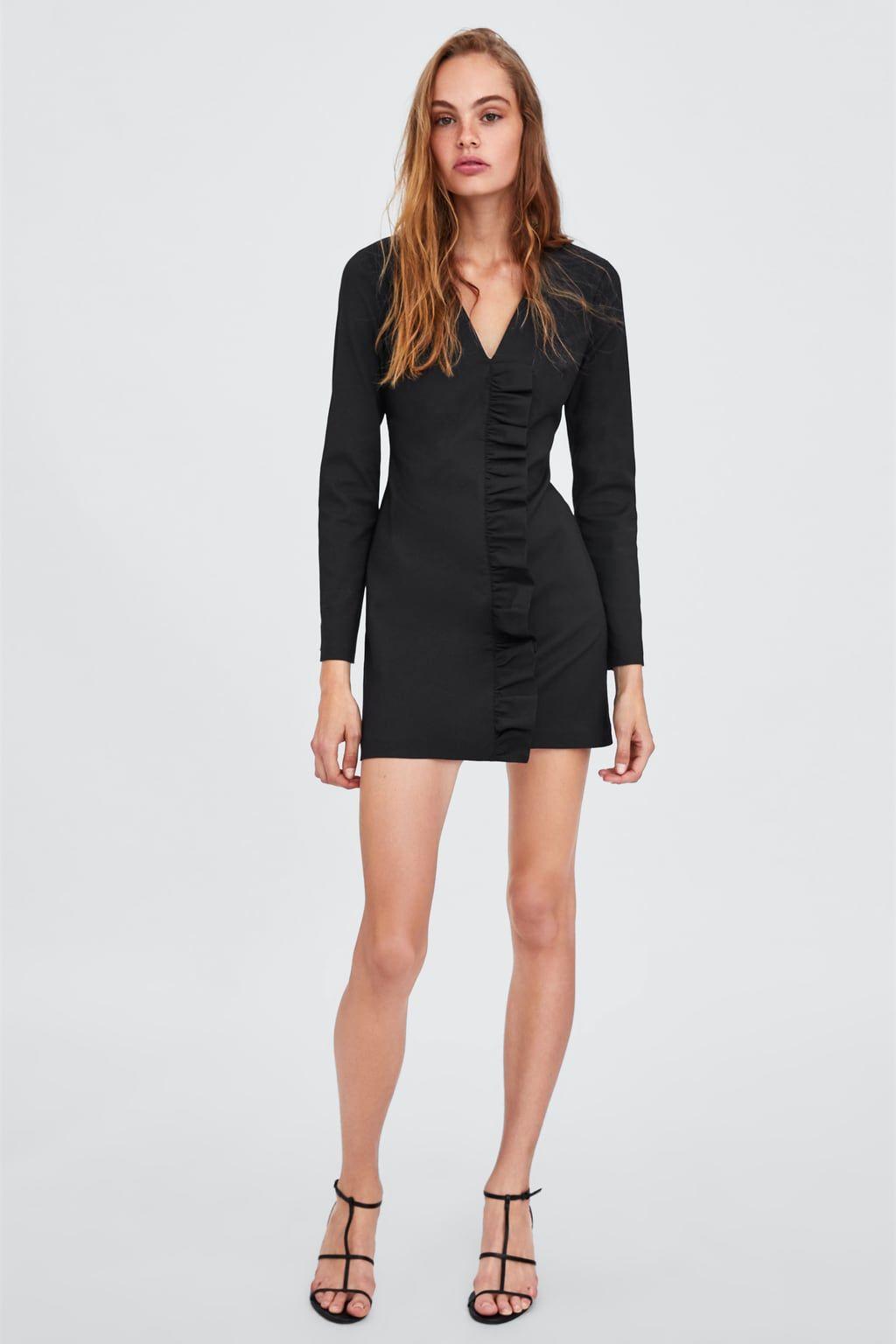 Image 1 of DRAPED DRESS from Zara | Zara vestidos fiesta