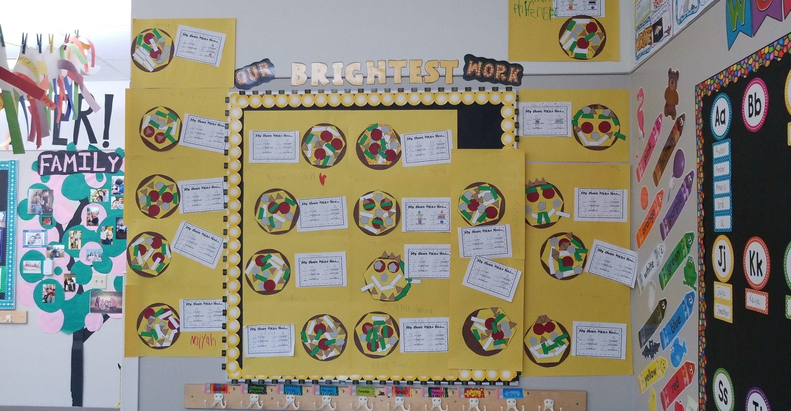 Pizza Shape Math Kindergarten