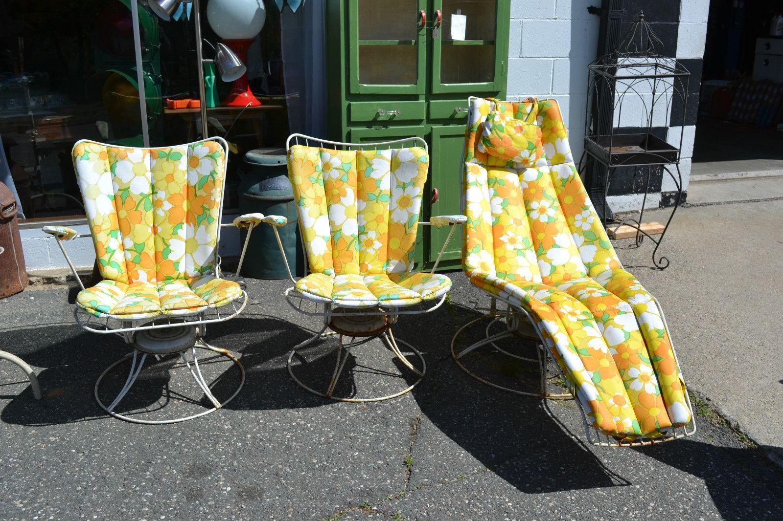 Vintage Homecrest 1950 S Patio Furniture 3 Pieces