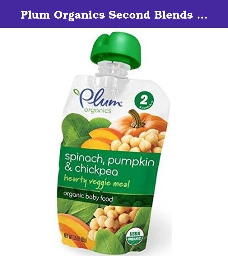 Plum Organics Second Blends Spinach Pumpkin and Chickpea