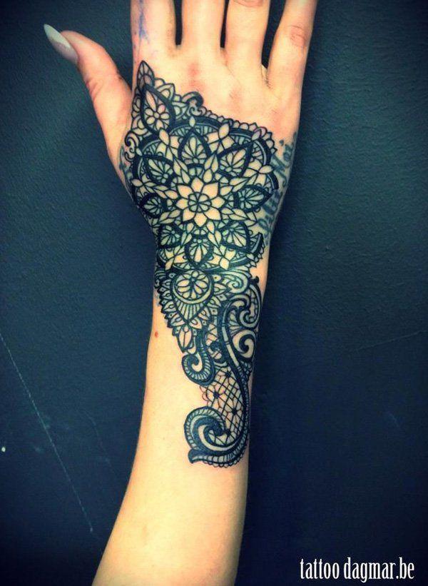 45 lace tattoos for women schulter t towierungen und. Black Bedroom Furniture Sets. Home Design Ideas