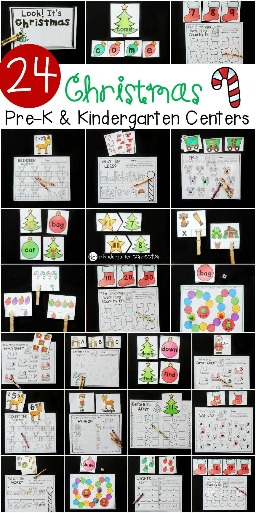 Christmas Centers And Activities For Pre K Kindergarten The Kindergarten Connection Teaching Resources Christmas Math Preschool Christmas Kindergarten Ce [ 1728 x 864 Pixel ]