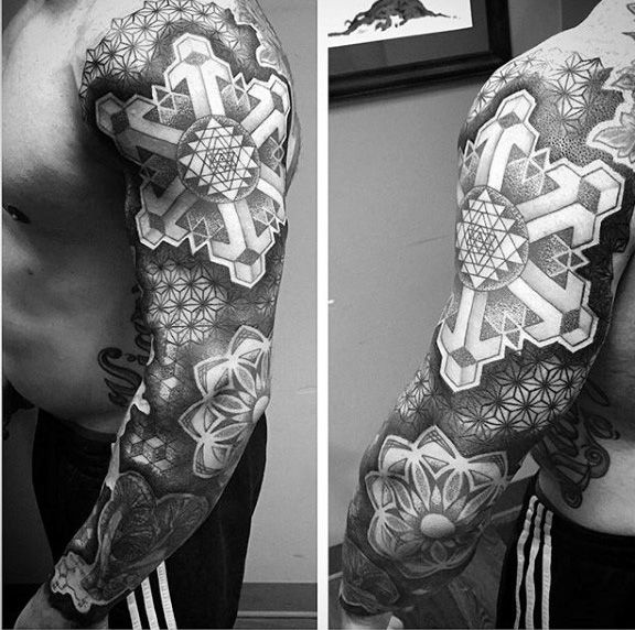 Sacred Geometry Skeleton Tattoo: Top 100 Best Sacred Geometry Tattoo Designs For Men