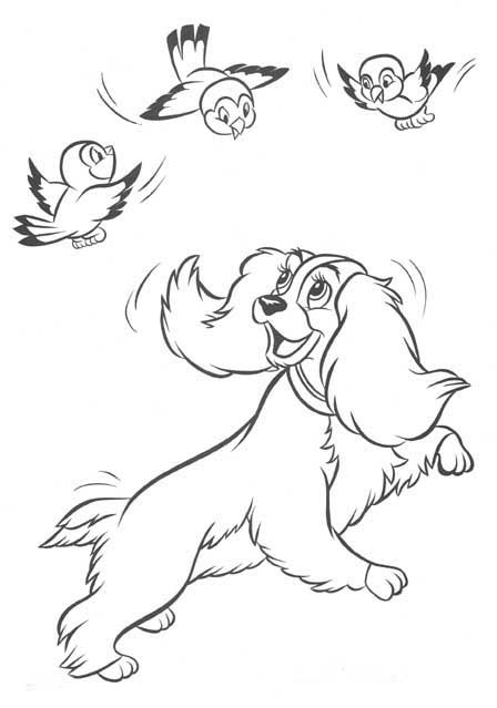 lady and the tramp coloring pages - Google-søgning