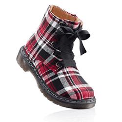 vastă selecție cumpara online îmbrăcăminte sport de performanță Ghete din panza model cadrilat | Fashion | Fashion, Rain boots, Boots