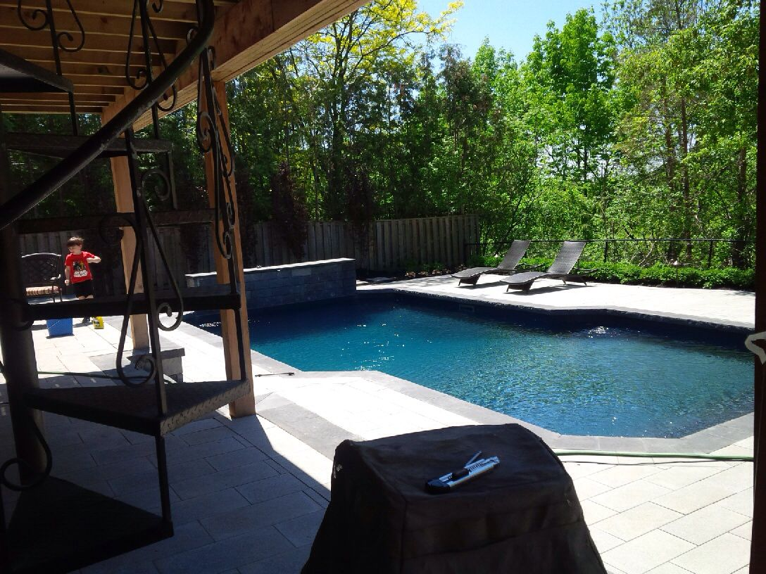 Swimming Pool Landscaping Black Liner Landscaping Pinterest Swimming Pools And Backyard