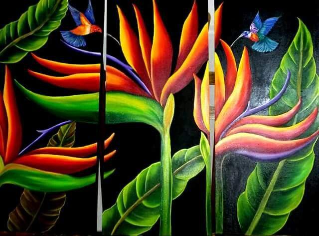 Aves del paraiso | Artes, Pintar, Criatividade