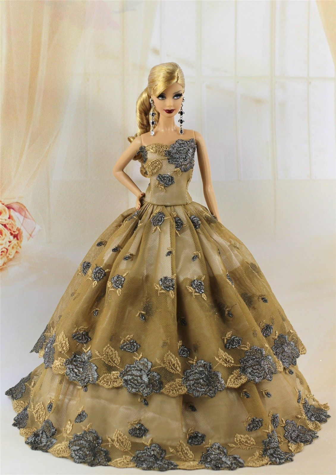 Fashion Princess Party Dress//Wedding Clothes//Gown For 11.5in.Doll H10