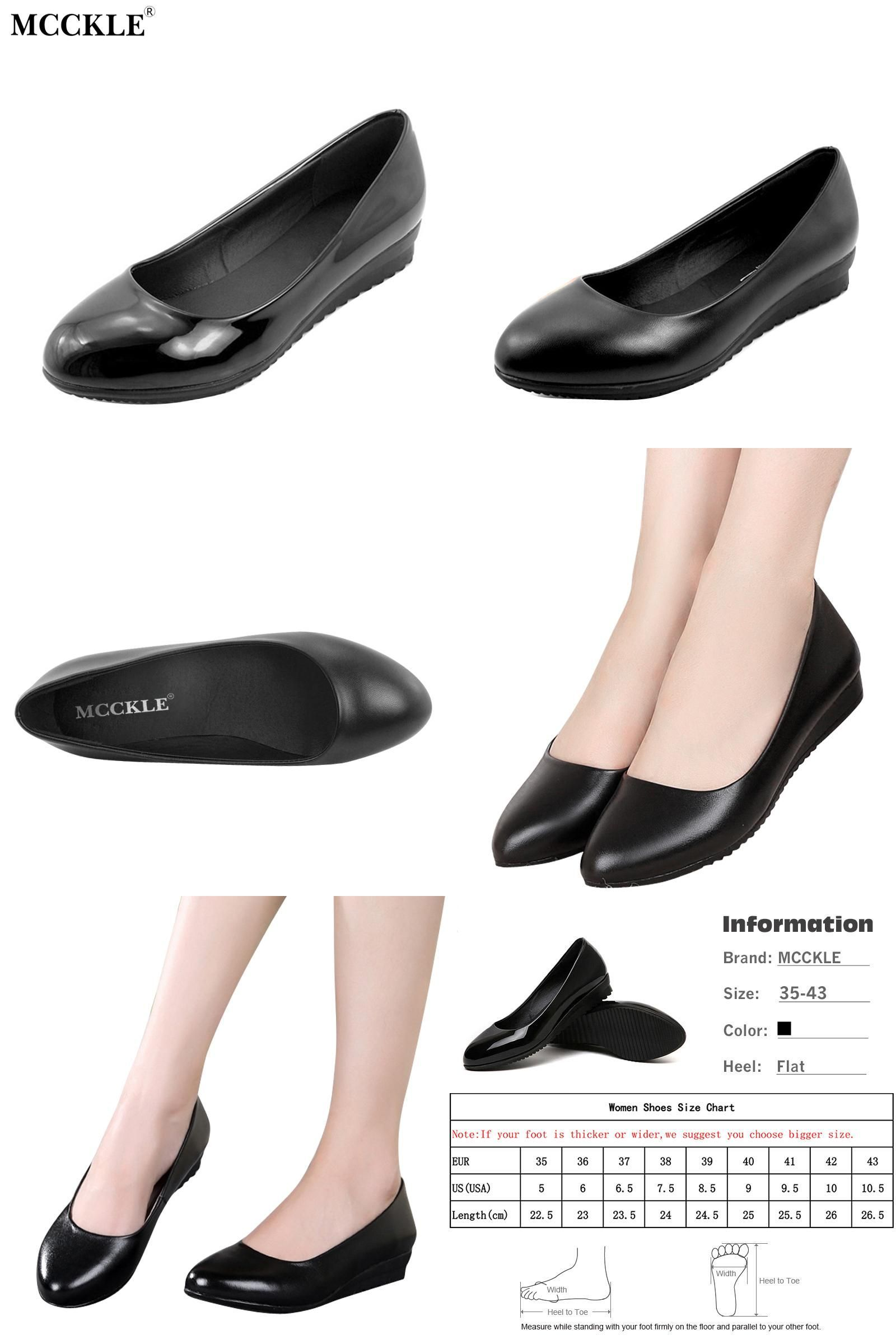 bb3c128d58e  Visit to Buy  MCCKLE woman fashion plus size Shoes Women Black Flats  Loafers Shoes Casual comfort Shallow Mouth Work Shoes Brand Ladies Shoes    ...