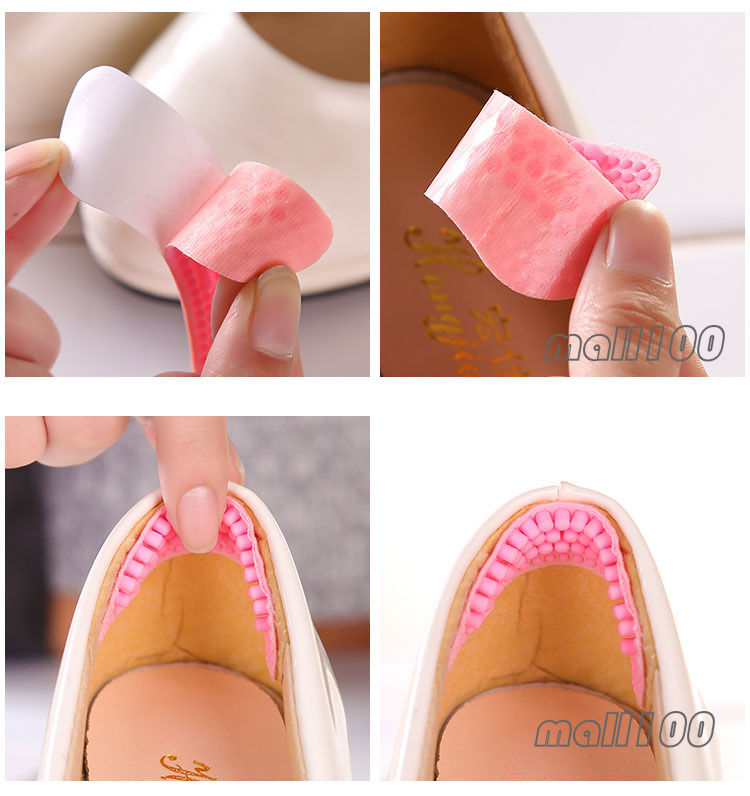 2pcs Silicone Gel Back Liner Insole High Heel Insert Shoe Pad Massage Cushion