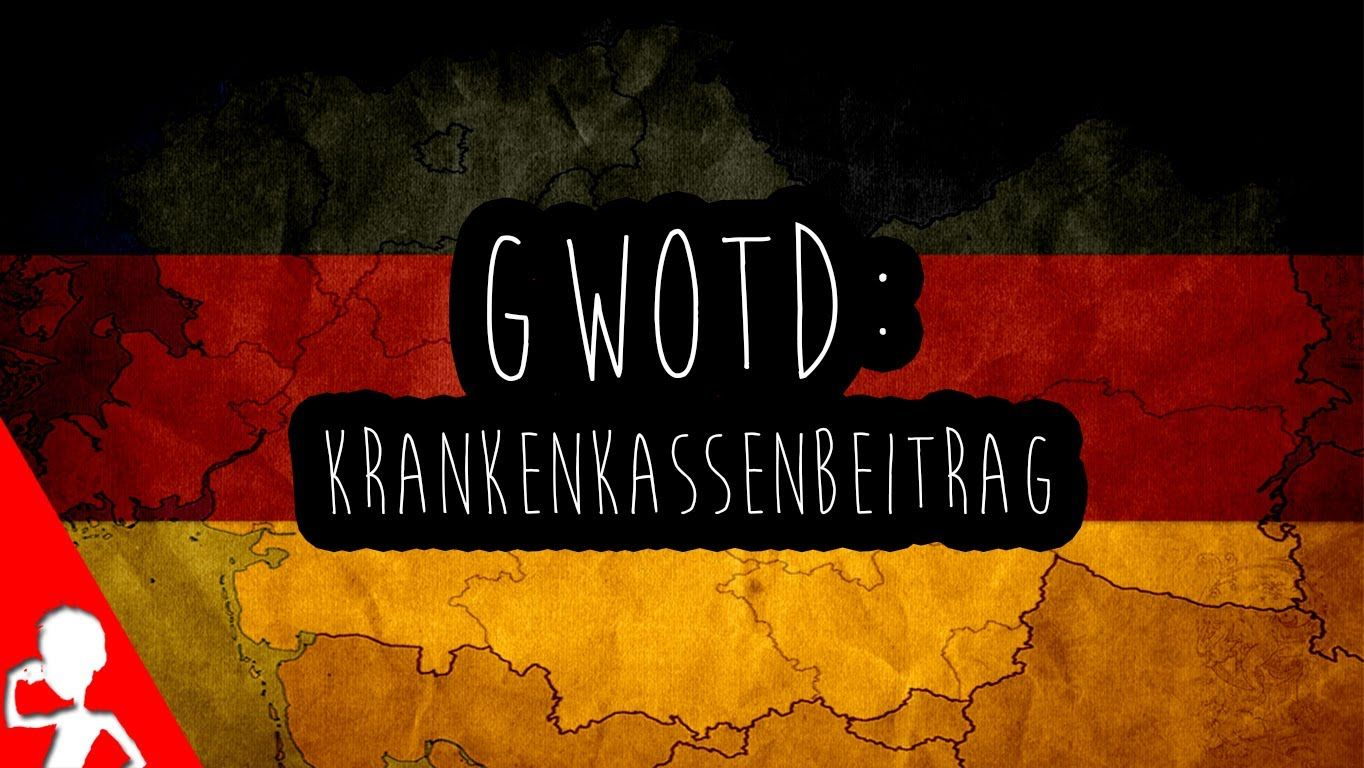 Today's #German word of the day is another compound word: der Krankenkassenbeitrag | Did you ever have to pay a Krankenkassenbeitrag?  DRÜCK DEN LIKE BUTTON FOR MORE VIDEOS! :D  #gwotd