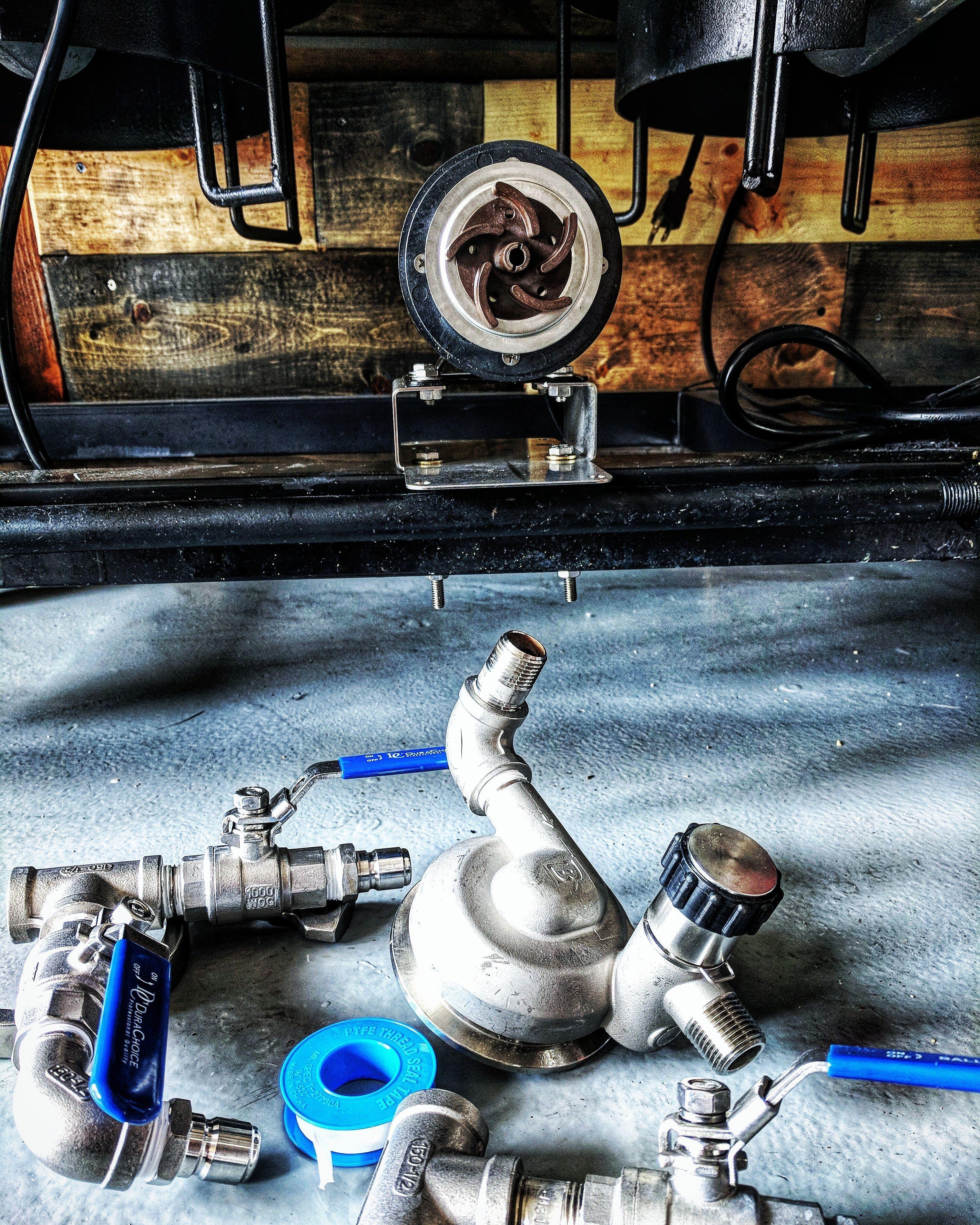 Homebrewing rig RipTide Homebrew Pump Upgrade Kit  Blichmann RipTide Home Brewing Pump Upgrade Kit