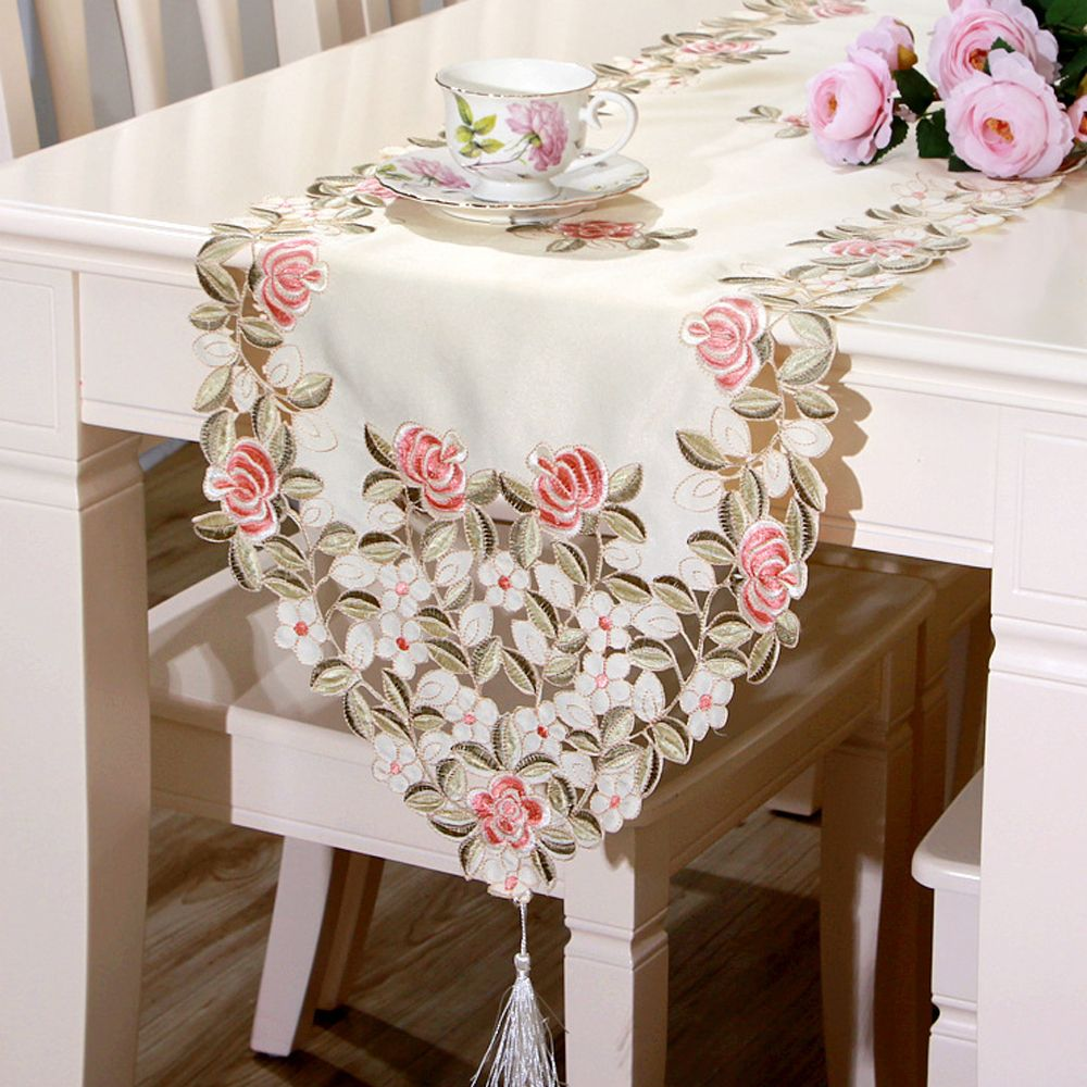 Popular Dresser Scarf Buy Cheap Dresser Scarf Lots From China Embroidered Table Runner Handmade Dressers Wedding Party Table