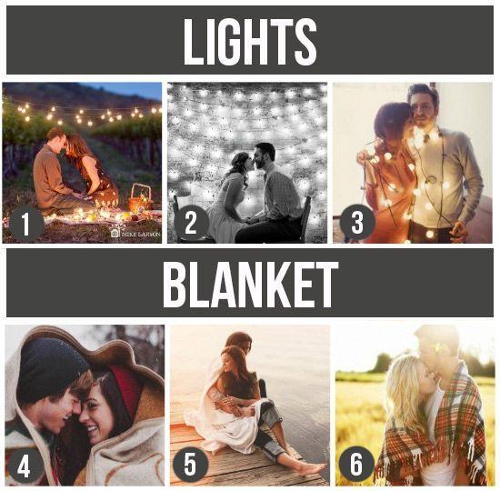 Lights/ Blanket couple ideas