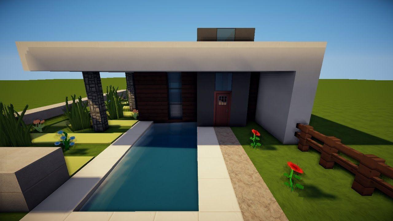 Minecraft Kleines Modernes Haus Bauen Ideen Für Jugendzimmer Mit - Minecraft modernes haus bauen part 1